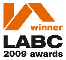 LABC award - small developer 2009 awarded for Building Excellence